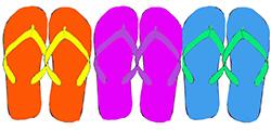 purple-polka-dot-flip-flops