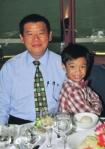 Billy Ng with son, Jia Jian