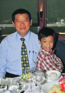 Billy Ng with son, Jia Jian