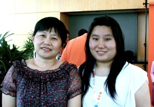 Phua Qin Hui and her mother