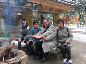 Gerard Ee's family staying warm while on their travels.