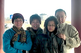Mr Gerard Ee (right) with wife, Celina (second from left), son, Sylvester (left), and daughter, Marianne (second from right).
