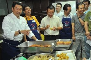 The Braddell Heights Men Cooking Interest Group with Celebrity Chef Eric Teo
