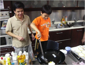 James Cheong and his son