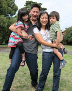 Steven Chia with wife, Tania, daughter Lucy, 6, and son, Joshua, 2