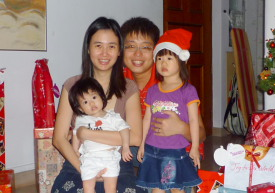 Dave and Michele Wong with their daughters
