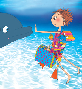 From Abbie Rose & The Magic Suitcase:  I Trapped a Dolphin But It Really Wasn't My Fault.  Used with permission.