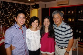 Paul (the author), Belinda (mum), Karen (sister) & Sim Siong Leng (dad).