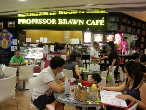 Brisk business at Professor Brawn on a Saturday afternoon.