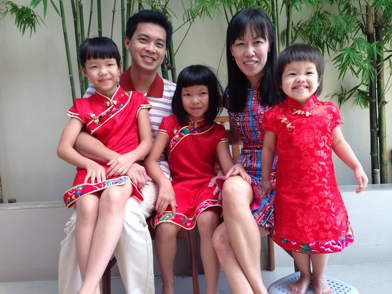 A family photo taken by Daniel during Chinese New Year