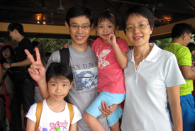 Mr Alan Tang & family