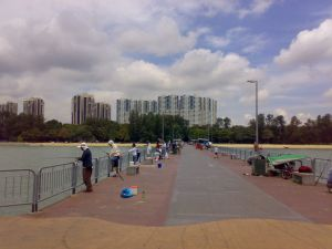 The Bedok Jetty is a well known fishing spot. Photo source: Wikipedia