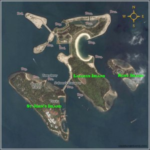 Make a trip to St John's and Lazarus Island. You can fish there too! Photo source: www.handinefishing.com
